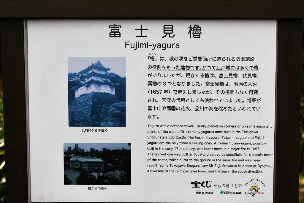富士見櫓 説明板