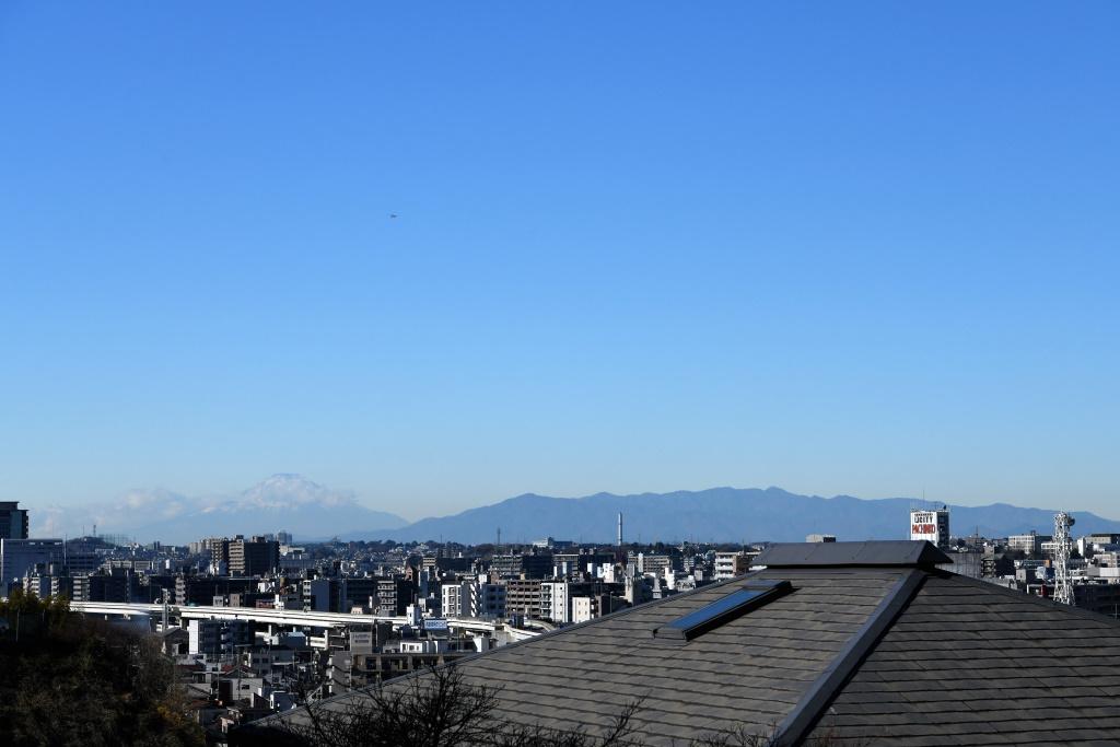 横浜山手から望む富士