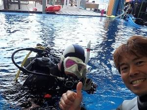 ダイビング自社プール (2)