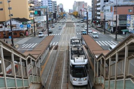 電停「新水前寺駅前」