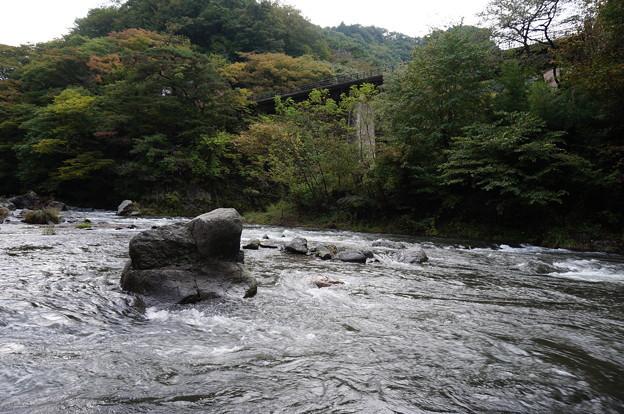 橋と紅葉と川
