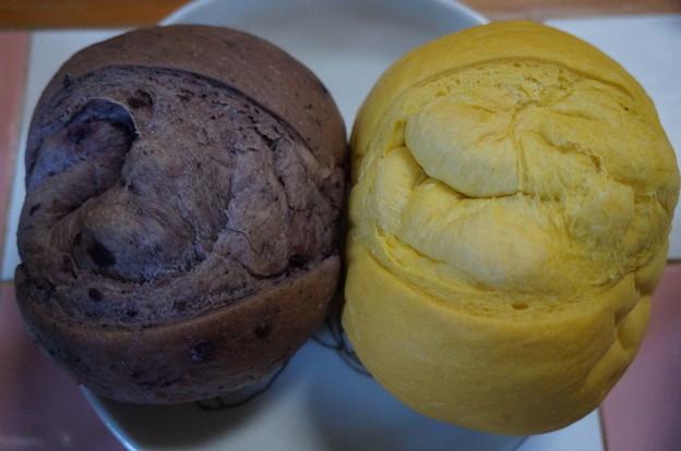 ブルーベリーパンとカボチャパン