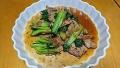 豚ひれ肉とチンゲン菜の炒め物 20171214