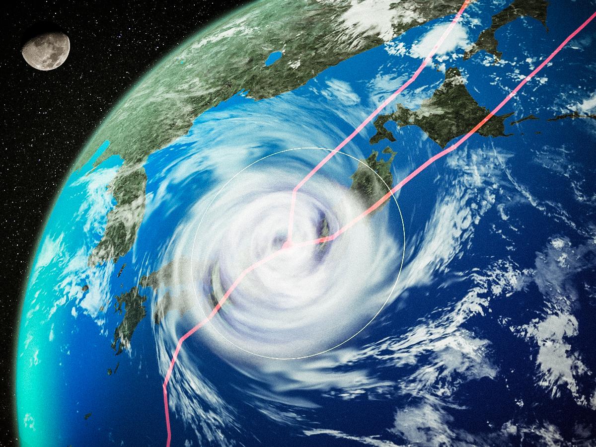台風21号関東直撃