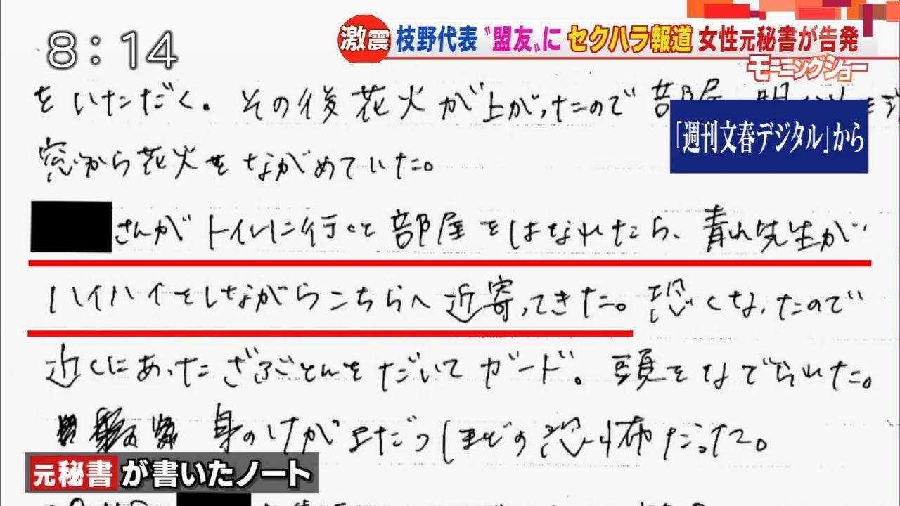 【立憲民主党】青山雅幸議員のセクハラ、秘書が告発!6-3