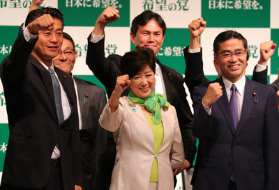希望の党の小池百合子代表(東京都知事)が民進党からの入党希望者