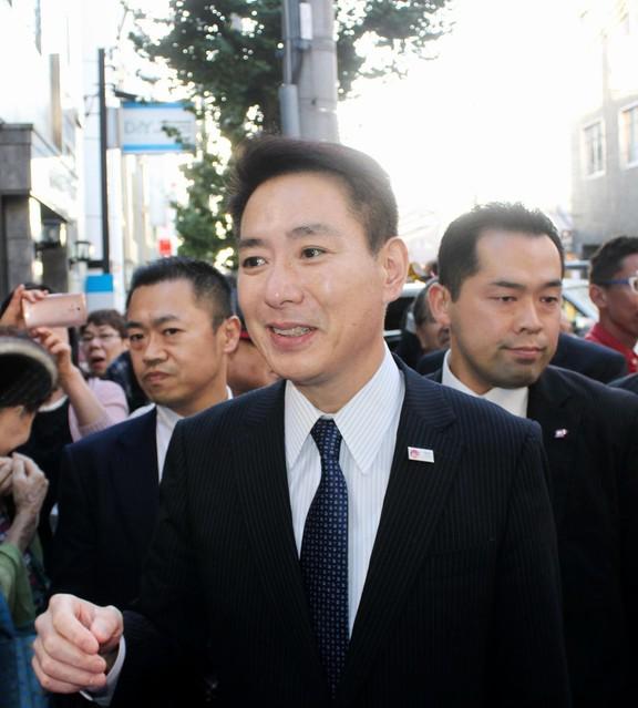 前原誠司代表の京都市での街頭演説