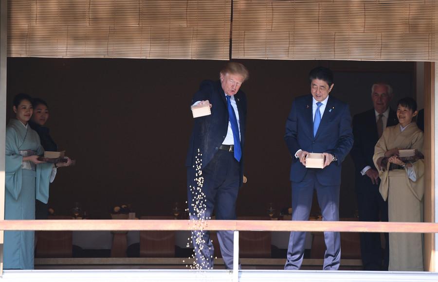 【コイの餌やり】トランプ大統領の「豪快」な餌やりに魚愛好家が激怒!2-1