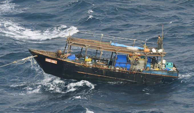 海上保安庁、北朝鮮の船