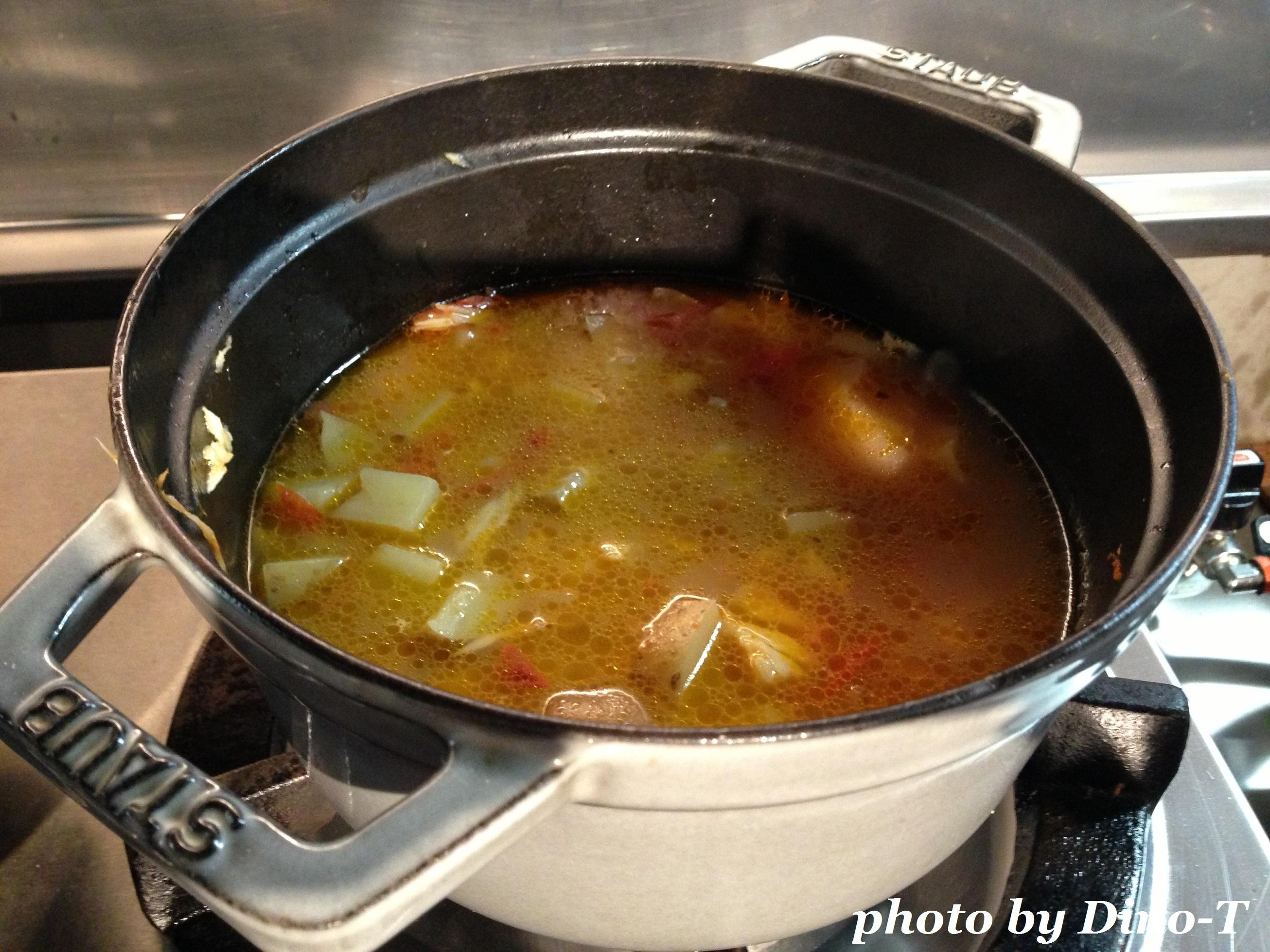 魚介のサフランスープ2