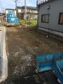 新築1棟目舗装工事中