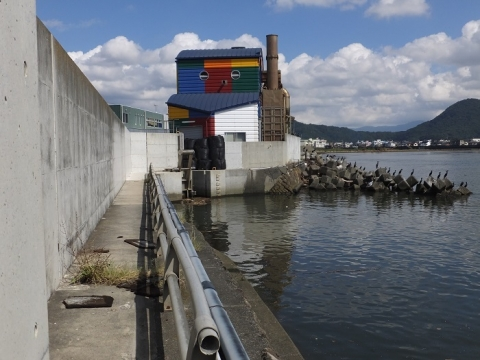 沼津港内港の排水路・排水樋管ゲート