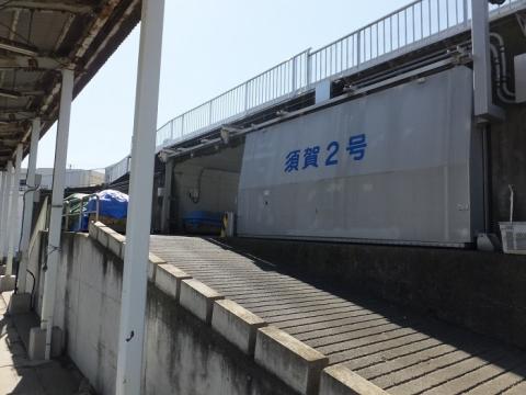 須賀周囲堤防西側の須賀2号ゲート