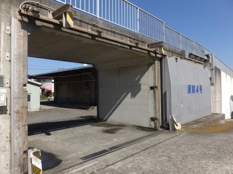 須賀港の陸閘・須賀4号ゲート