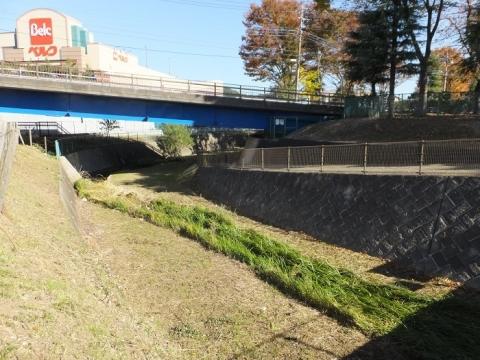鶴見川旧河道・新鎧橋付近
