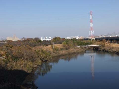 さくらそう水門より鴨川上流を望む