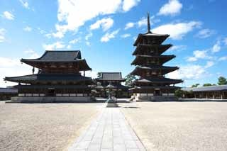 フリー写真 世界遺産法隆寺(奈良)
