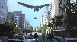 ガメラ:大怪獣空中決戦 実景合成・昼間