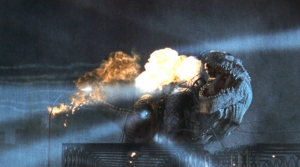 G1998_30 ミサイル攻撃で死ぬゴジラ