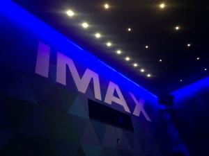 109シネマ 座席背面のIMAXロゴ