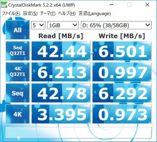 s_東芝_MicroSD64GB _ベンチマーク