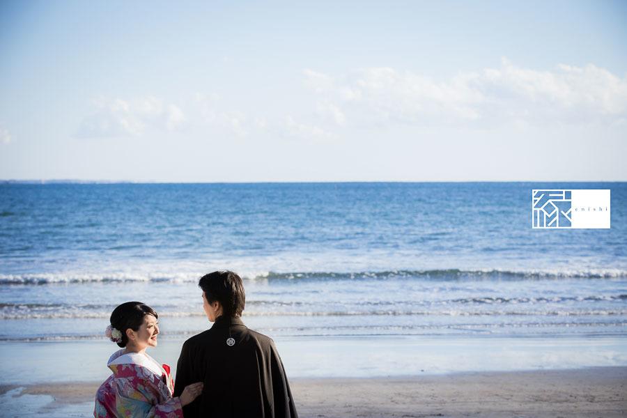 和装前撮り鎌倉新春冬01