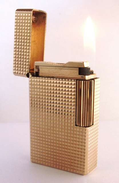 00 DUPONT GAS LIGHTER 20 Microns Goldplated
