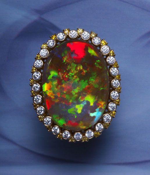 0000 Black Opal Ring