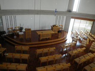 A教会 礼拝堂