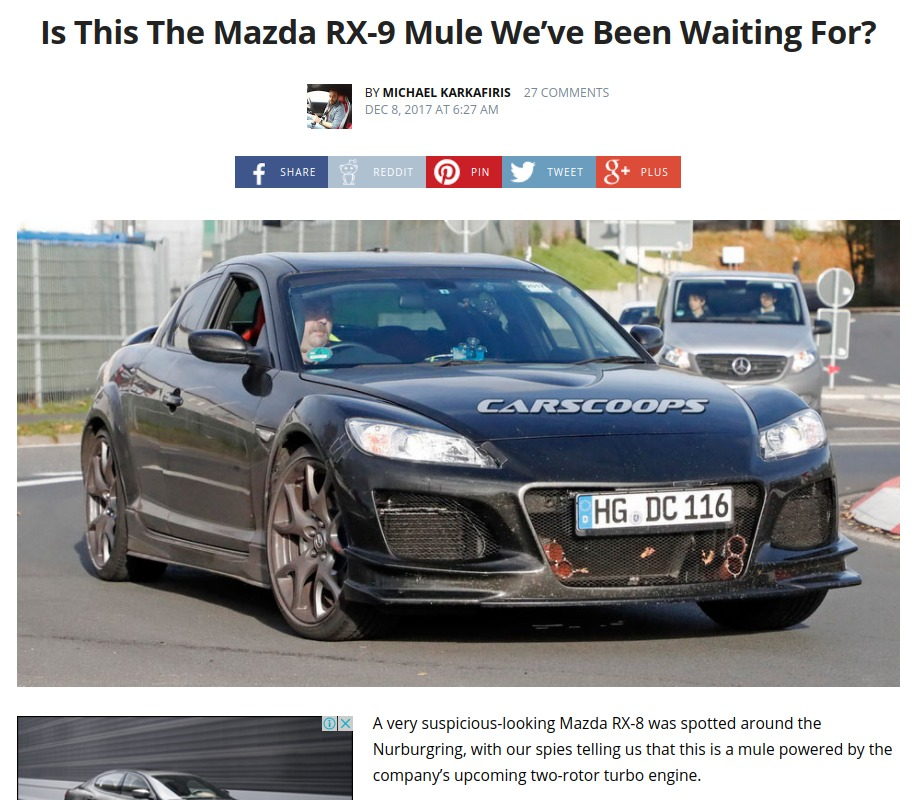 Is This The Mazda RX 9 Mule We've Been Waiting For