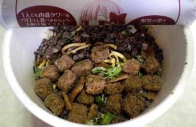 10/9発売 AKIBAヌードル 肉汁麺ススム監修 肉汁麺(内容物)