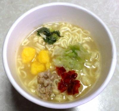KALDI 瀬戸内レモン鶏白湯塩ラーメン(できあがり)