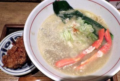 麺と心 7 蟹白湯ラー麺 ~まろやか蟹味噌ソース添え~
