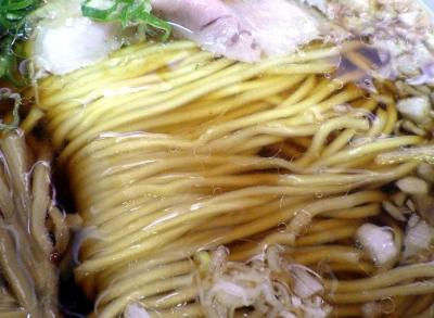 ぬんぽこ 中華そば(麺のアップ)
