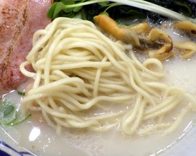 らーめん砦 堺店 砦らーめん 煮卵付(麺のアップ)