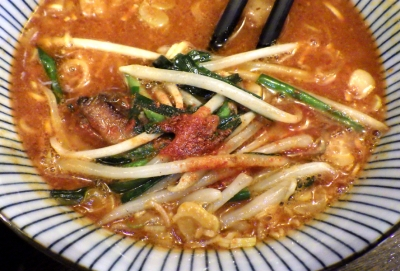 綿麺 フライデーナイト Part139 (17/10/27) ピリ辛味噌つけ麺(つけ汁のアップ)
