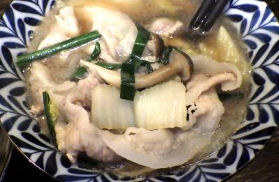 綿麺 フライデーナイト Part140 (17/11/10) 豚しゃぶつけ麺(つけ汁のアップ)
