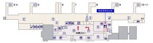 鹿児島空港フロアマップ2F