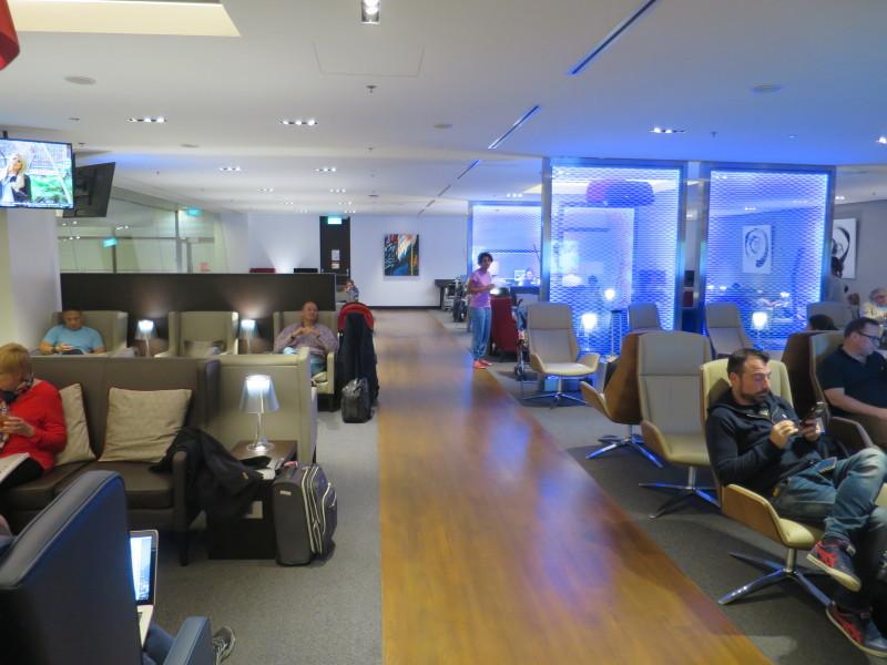ブリティッシュ・エアウェイズ ビジネスクラスラウンジ シンガポール・チャンギ空港