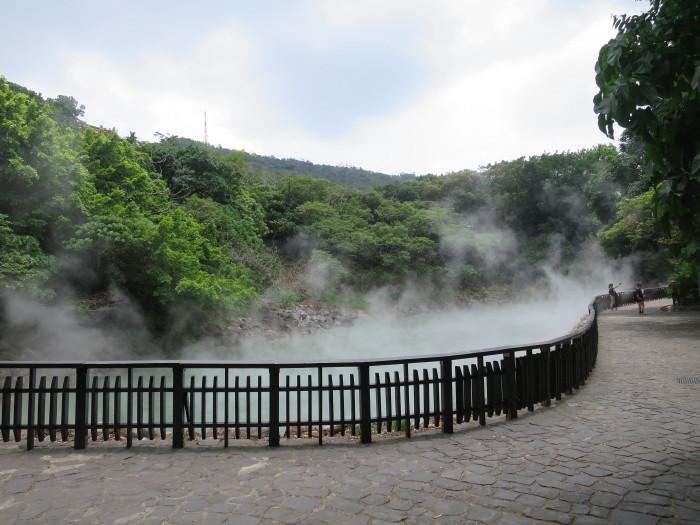 台湾 温泉 地熱谷
