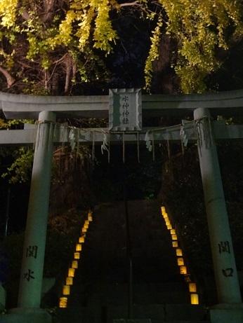 水神社灯り