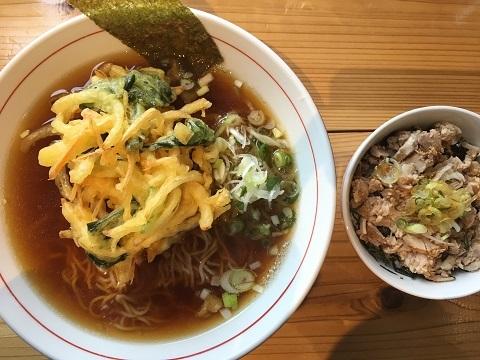 野菜かきあげ中華