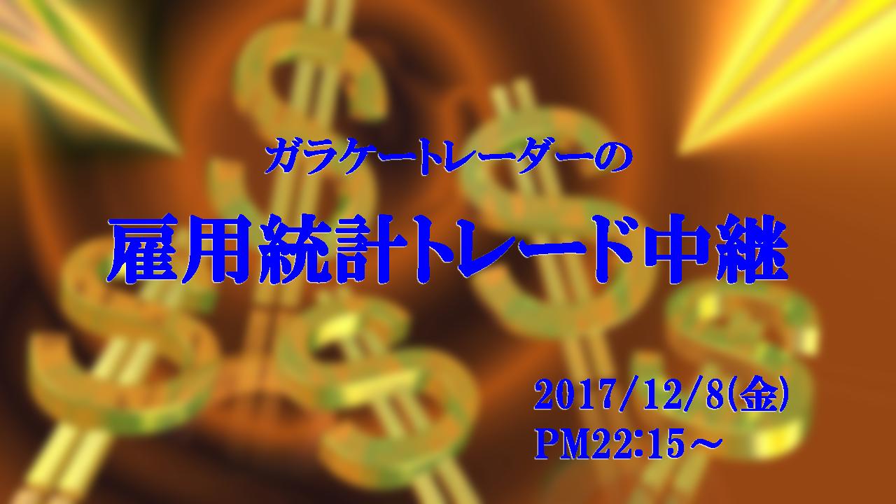 米雇用統計トレードWTC(ロビンスカップ)生中継!