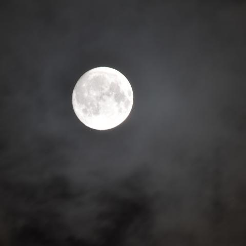 十五夜の宴の帰り道、撮影したお月様