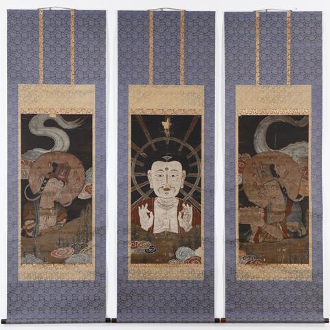 阿弥陀三尊図(「近世の仏教絵画里帰り展」から)