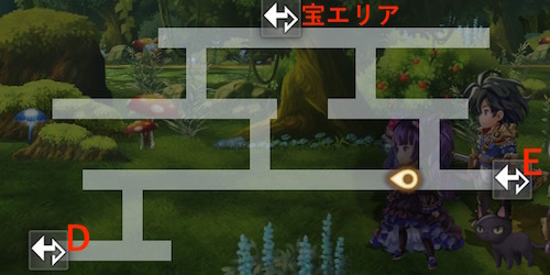 不思議の森 断章 3話 マップ