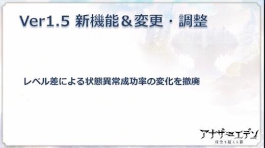 アナデンまつり2017秋 アプデ