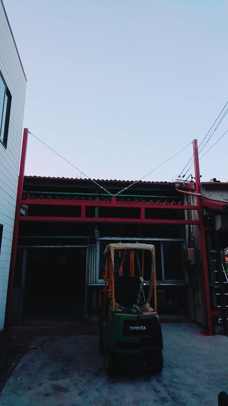 シャッター柱