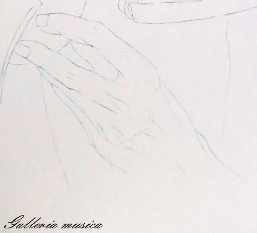 手を描く1