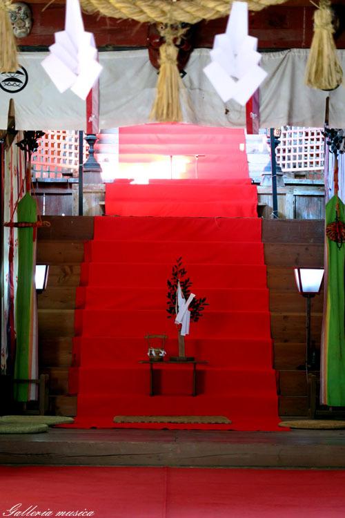 紅葉の神社。4